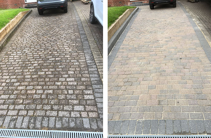 Pressure Washing Before And After